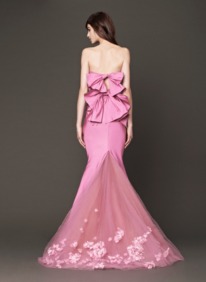 Vera Wang Fall 2013 Bridal Gown Pink Back View