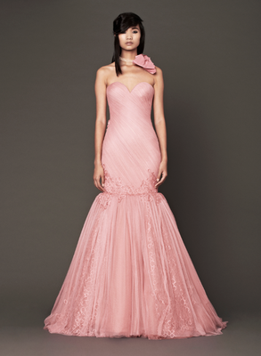 Vera Wang Fall 2013 Bridal Gown Salmon