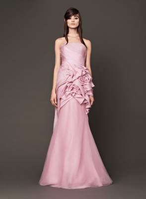 Vera Wang Fall 2013 Bridal Pink Dress