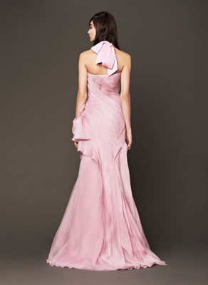 Vera Wang Fall 2013 Bridal Pink Dress Back View