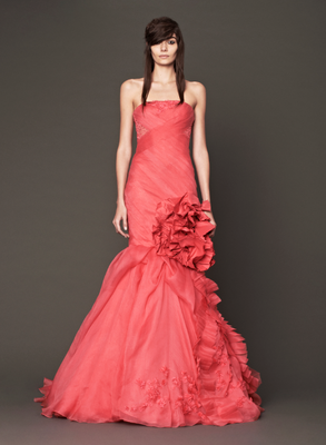 Vera Wang Fall 2013 Bridal Red Siren Dress
