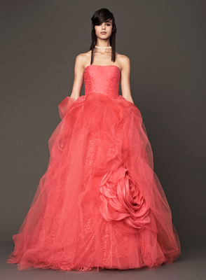Vera Wang Fall 2013 Wedding Gown In Red