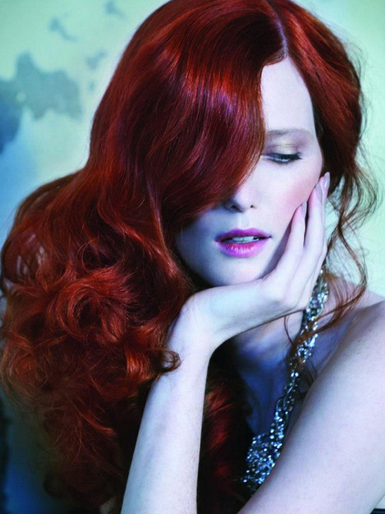Pictures  Winter Hair Color Ideas 2013  Ruby Red Hair