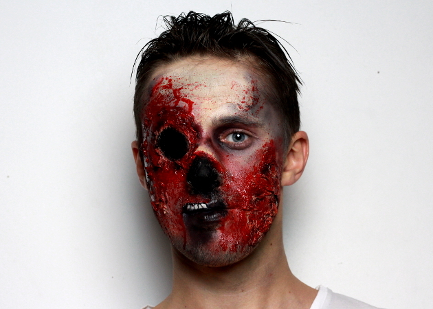 Zombie Makeup Finished Look