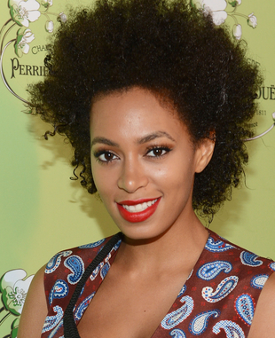 Solange Knowles Curly Natural Hair