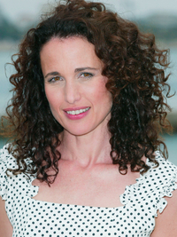 Andie Macdowell Natural Curls