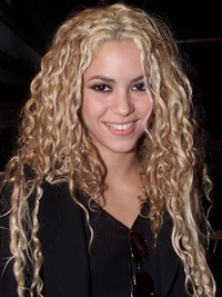 Shakira With Curly Natural Hair