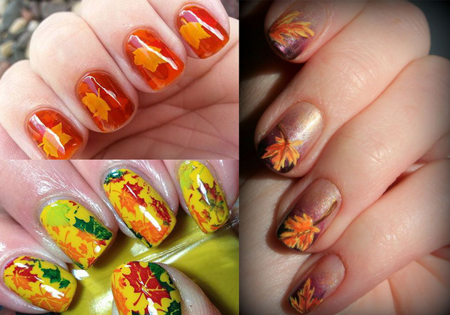 Pictures 4 Great Thanksgiving Nail Art Ideas Fall Leaves Nail Art