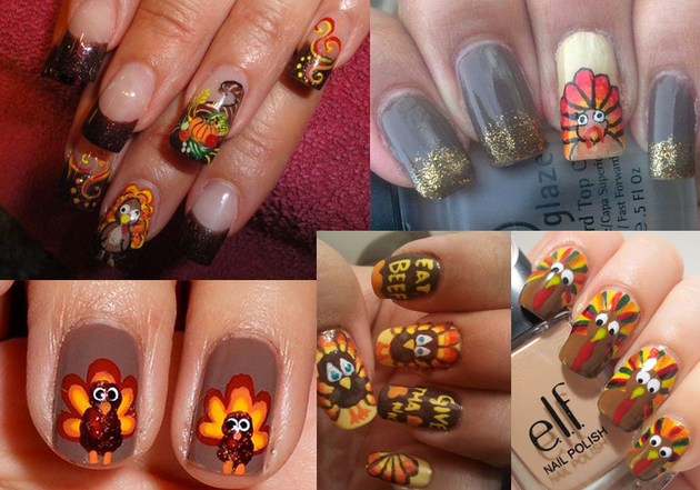 Pictures 4 Great Thanksgiving Nail Art Ideas Turkey Nail Art Design