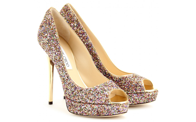 Jimmy Choo Crown Glitter Shoes