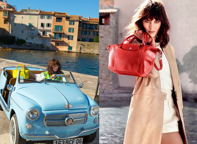 Alexa Chung For Longchamp Ss 2014 Campaign