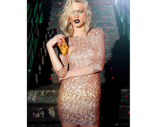 Chic party dresses are the focus of the new Bershka Crystallized Christmas 2013 collection. Have a look!