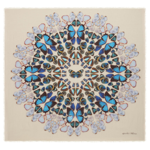 Damien Hirst For Alexander Mc Queen Scarf  (2)