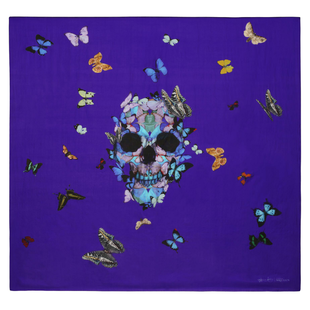 Damien Hirst For Alexander Mc Queen Scarf  (3)