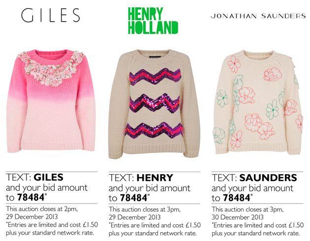 Designers Create Christmas Sweaters Auction For Save The Children