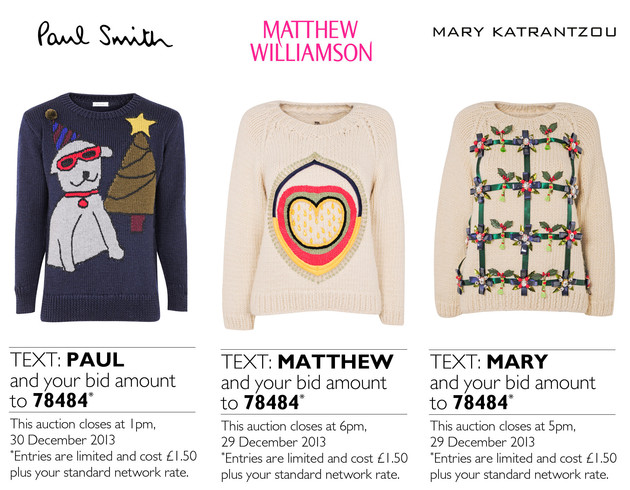 Sweaters Auction For Save The Children