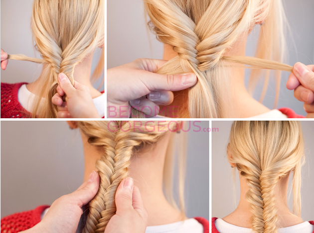 Fishtail Braiding Instructions
