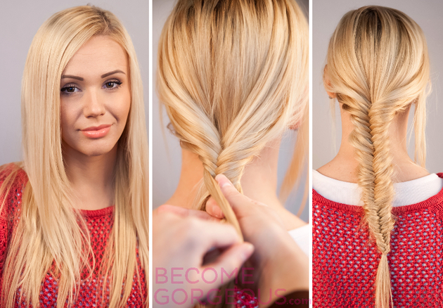 Fishtail Braid Tutorial Step by Step with Video