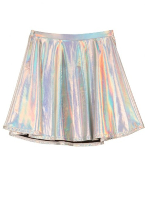 Forever 21 Lookbook Holiday 2013 Holographic Skirt
