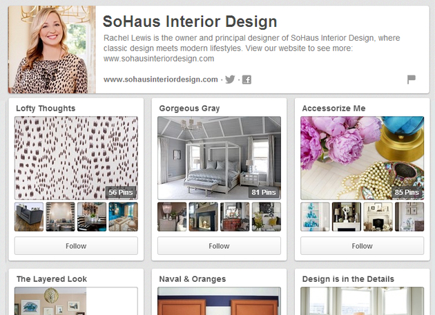 Sohaus Pinterest Board