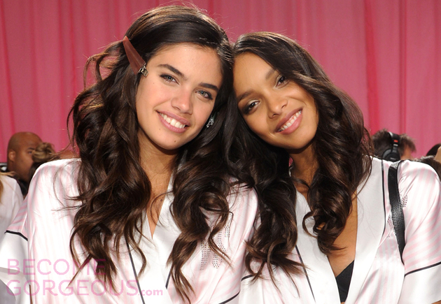 Sara Sampaio With Lais Ribeiro Backstage At Victorias Secret
