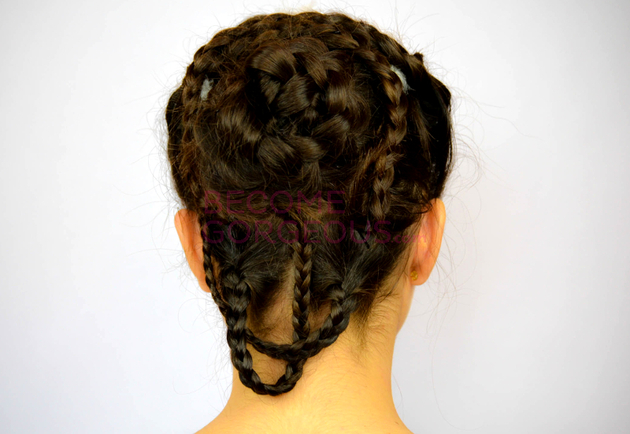 Katniss Everdeen Bridal Hair Back View