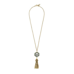 Lulu Frost For J.Crew Midnight Moon Tassel Necklace