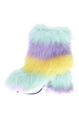 Colored Fur Boots