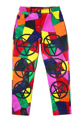 Colourful Leather Pants