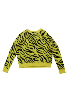 Yellow Zebra Print Jumper