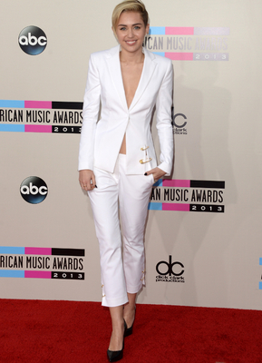 Miley Cyrus White Pant Suit