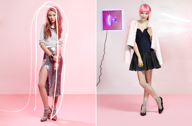 Nasty Gal The Party Shop Light It Up Lookbook