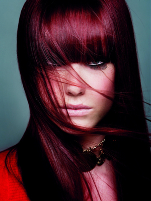 Auburn Purple Undertone Hair Color
