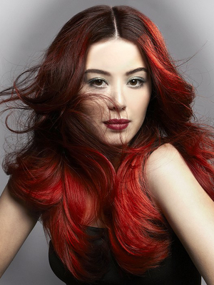Ombre Red Hair Color