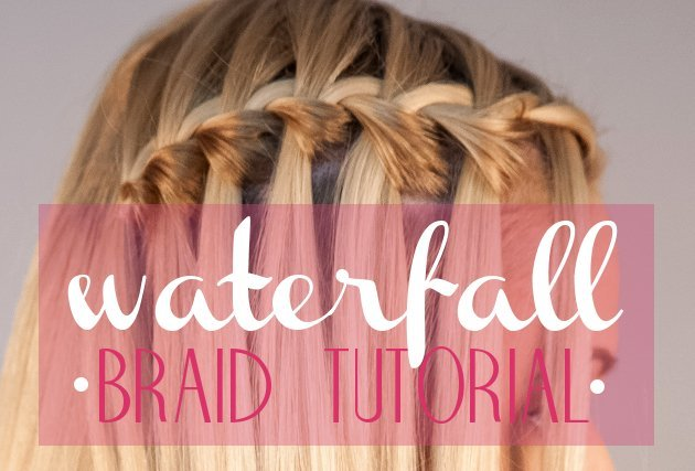 Waterfall Braid Tutorial Step by Step