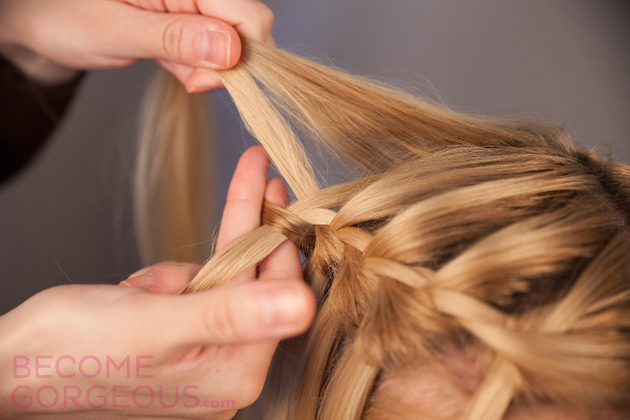 Waterfall Braid Steps