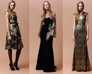 Sophisticated elegant gowns stole the spotlight in the new Badgley Mischka pre-fall 2014 collection. Have a look at the coolest new ensembles.