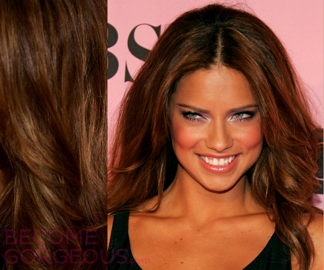 Adriana Lima Hair Highlights