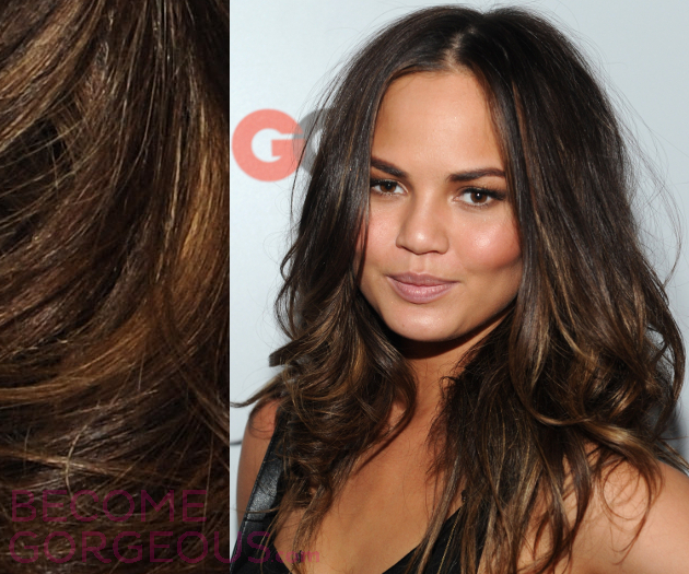 Chrissy Teigen Hair Highlights
