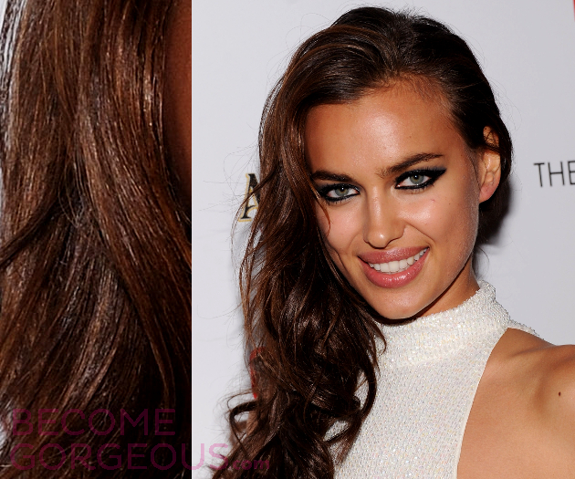 Irina Shayk Hair Highlights