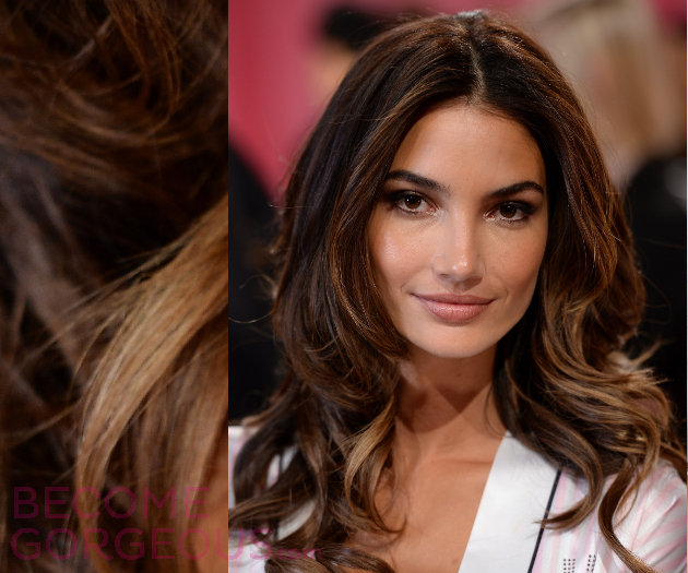 Lily Aldridge Blonde Highlights