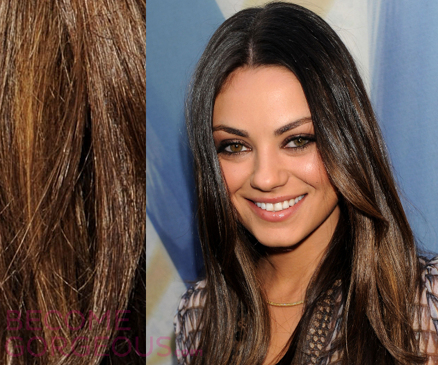 Mila Kunis Olive Skin Hair Highlights
