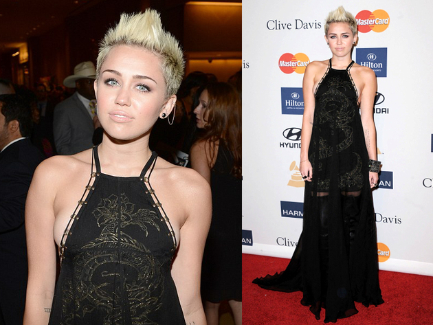 Miley Cyrus In Emilio Pucci Long Dress