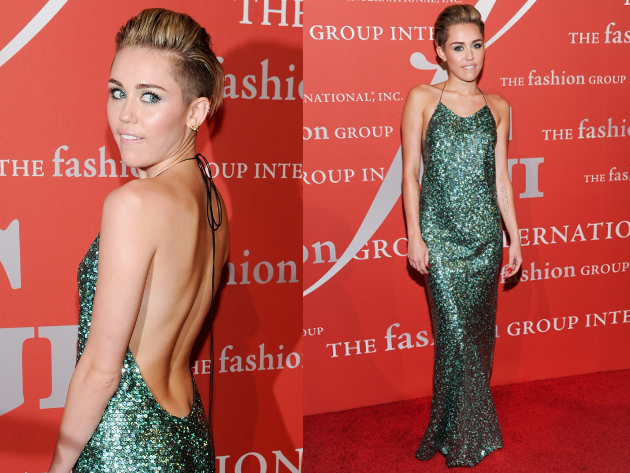 Miley Cyrus In Marc Jacobs Glitter Gown