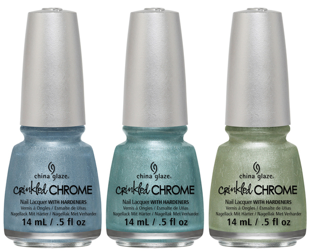 China Glaze Crinkled Chrome 2014 Green Blue Tones