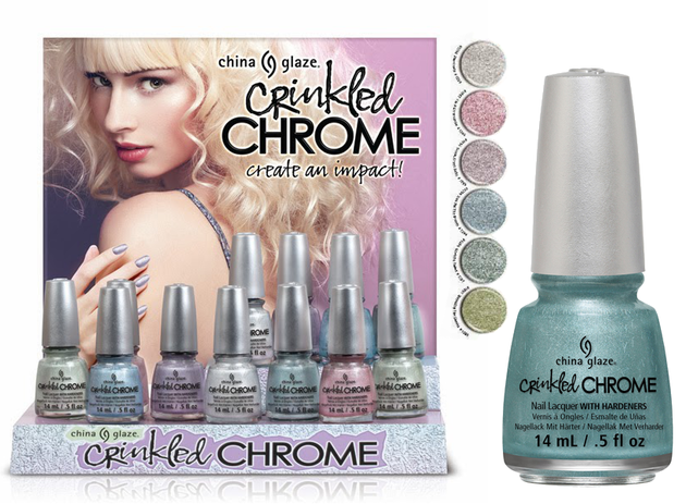 China Glaze Crinkled Chrome 2014 Nail Polish Collection