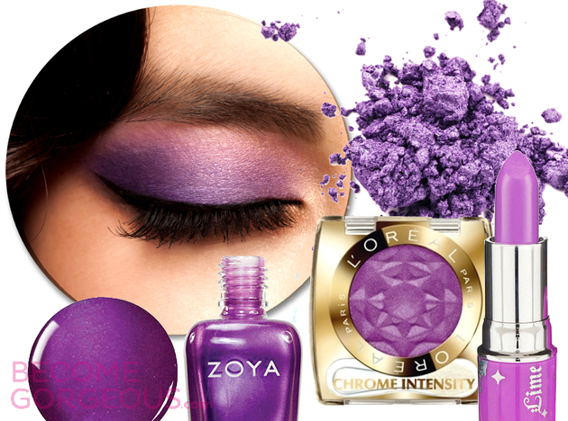 Radiant Orchid Makeup Color Trends