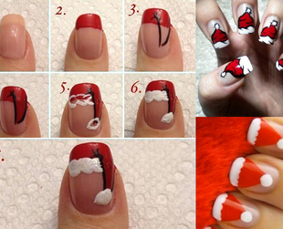 With the holiday season just weeks away, we've prepared some cool DIY nail art ideas that will get you buzzing with excitement. Check out these chic Santa nail art designs!