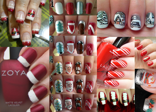 DIY Santa Nail Art Designs for Christmas