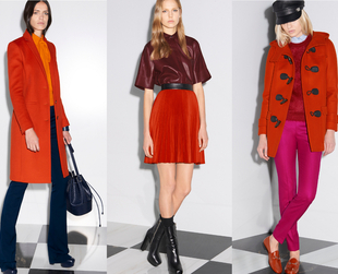 Practical combos in vibrant tones are one of the top suggestions from the new Gucci pre-fall 2014 collection. Take a peek!
